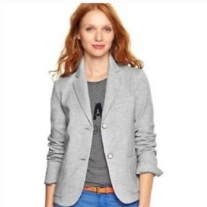 Gap Gray Academy Relaxed Fit Wool Blend Blazer